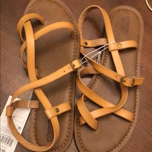 Mossimo Supply Co. Casual Leather Sandals
